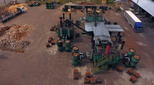 Аэросъемка предприятия по производству древесного угля